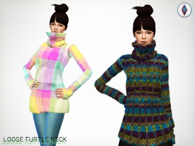 LOOSE TURTLENECKS at NiteSkky Sims image 7518 670x503 Sims 4 Updates