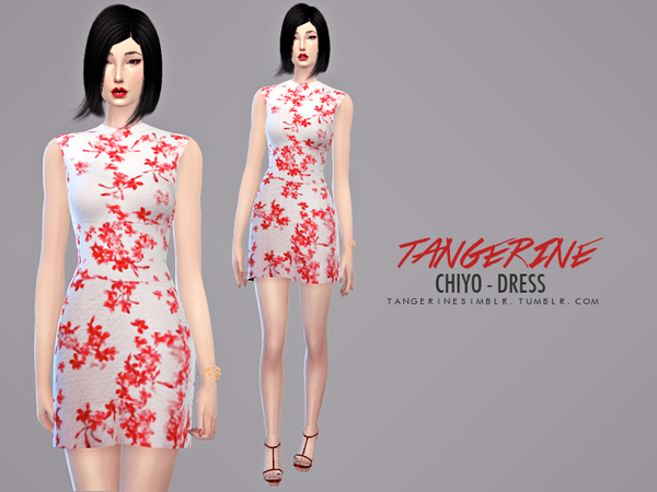 Chiyo dress by tangerine at Sims Fans image 760 Sims 4 Updates