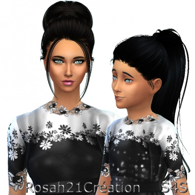 Maman & Fille by Rosah21 at Sims Dentelle image 7813 670x670 Sims 4 Updates