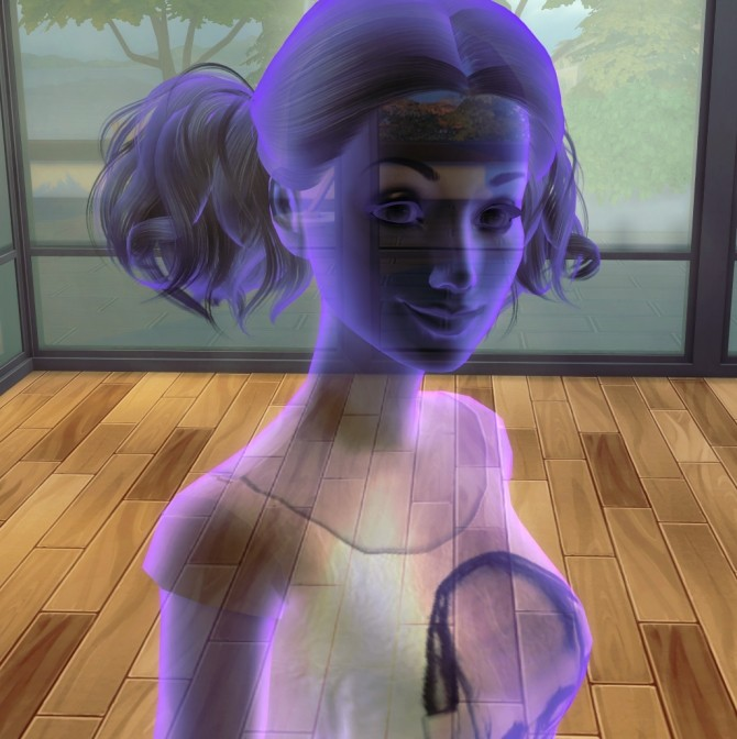 Sims 4 Murmur (YA Lady Ghost) by Alrunia at Mod The Sims