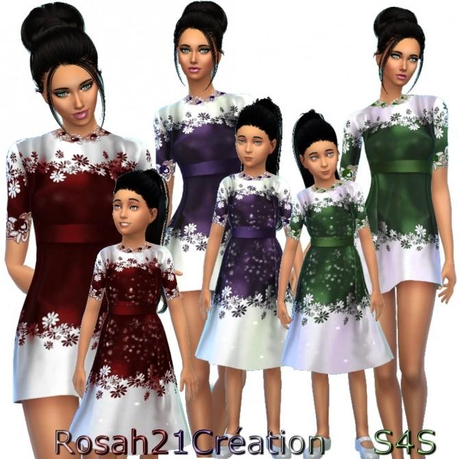 Sims 4 Maman & Fille by Rosah21 at Sims Dentelle
