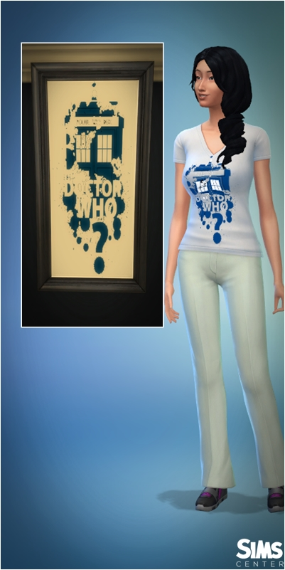 Tardis | Doctor Who shirt by Leonardo Luis at ts4br – Sims Center image 8117 Sims 4 Updates