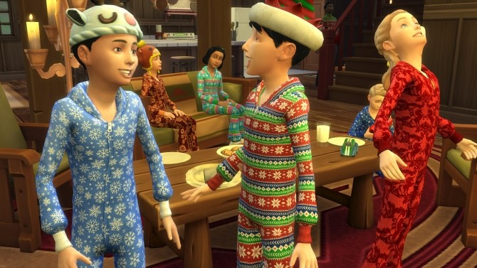 Sims 4 Cosy Jumpsuit Sleepwear for kids by K9DB at Mod The Sims