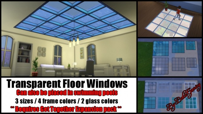 Sims Floor Elevation Cheat : Transparent floor windows by bakie at mod the sims