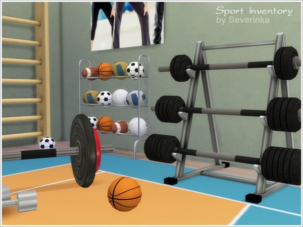 Sport inventory set by Severinka at TSR image 840 Sims 4 Updates
