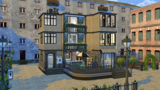 Apartment With Coffee Shop At Dinha Gamer Sims 4 Updates