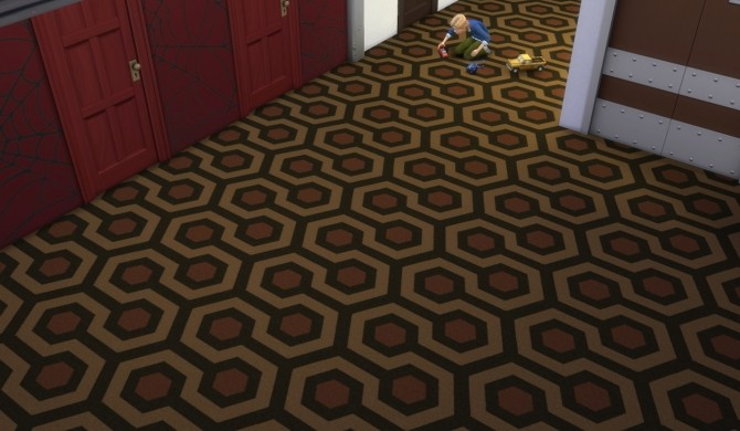 Sims 4 The Shining carpet 10 colors by Velouriah at Mod The Sims