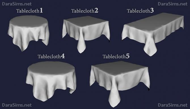 Tablecloth Set At Dara Sims 187 Sims 4 Updates
