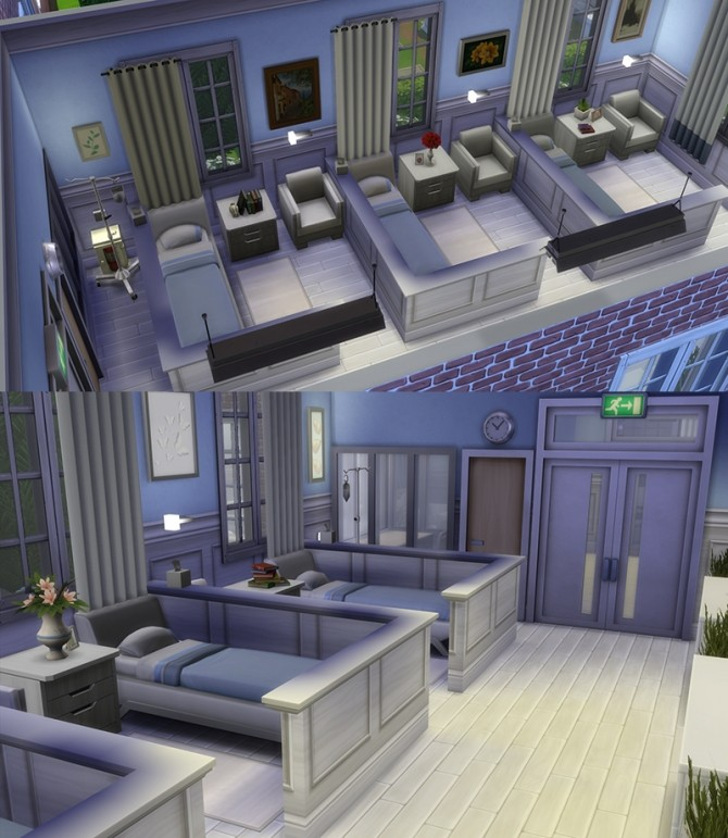 Whiting Psychiatric Hospital By Alrunia At Mod The Sims