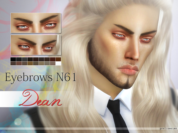 Sims 4 5 Eyebrows Minipack N07 by Pralinesims at TSR