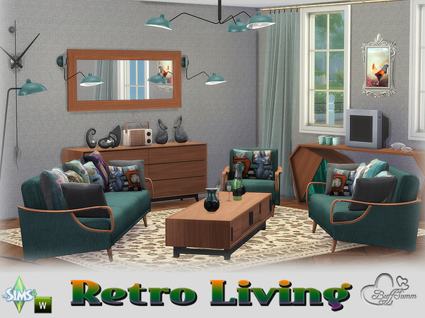living room retro retro livingroom by buffsumm at tsr 187 sims 4 updates 11644