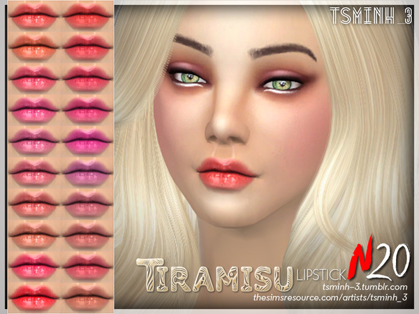 Sims 4 TIRAMISU Lipstick by tsminh 3 at TSR