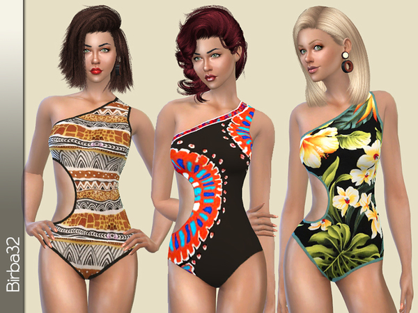 Sims 4 Ethnic Swimsuit by Birba32 at TSR