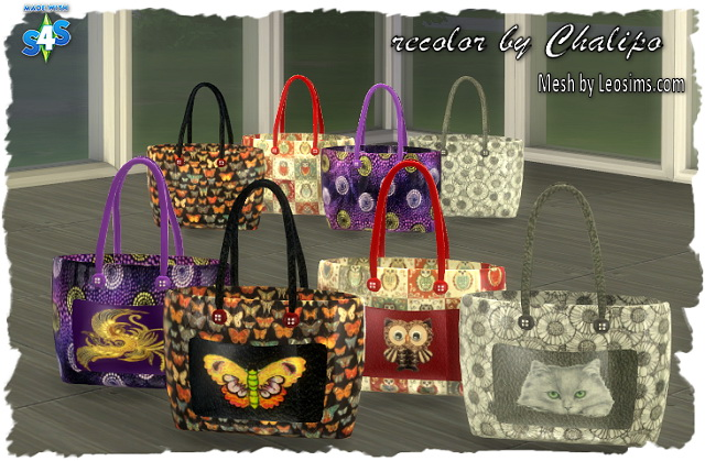 Deco shopping bag by chalipo at all 4 sims sims 4 updates for Deco appartement sims 4