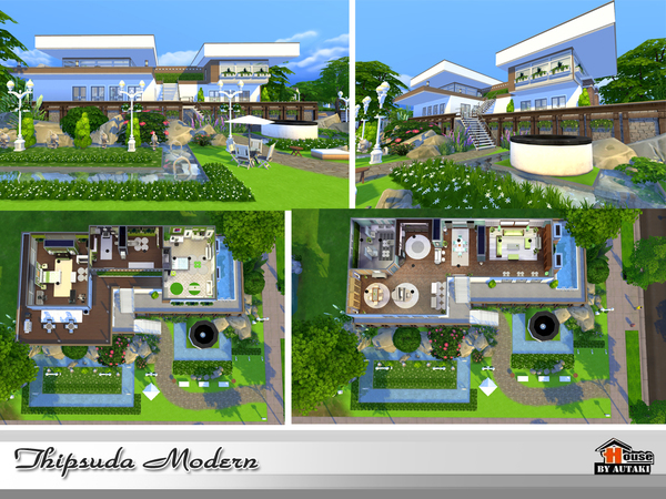 Thipsuda Modern house by autaki at TSR image 920 Sims 4 Updates