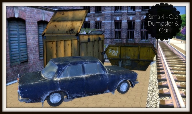Old Dumpster and Car (PAY) at Dinha Gamer image 922 670x396 Sims 4 Updates