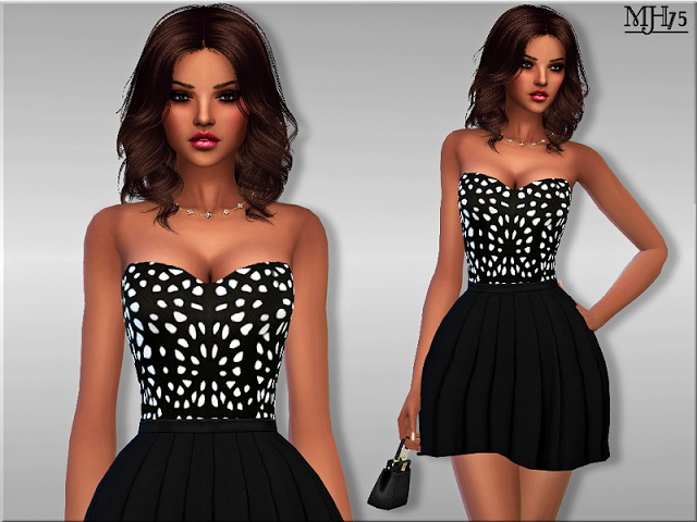 Sims 4 Jolie Moi Dress by Margie at Sims Addictions