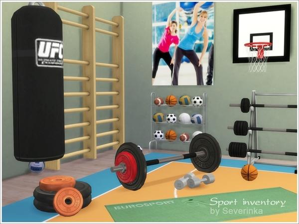Sims 4 Sport inventory set by Severinka at TSR