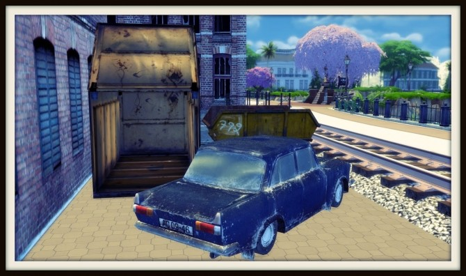 Old Dumpster and Car (PAY) at Dinha Gamer image 931 670x396 Sims 4 Updates