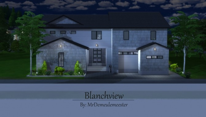 Sims 4 Blanchview house by MrDemeulemeester at Mod The Sims