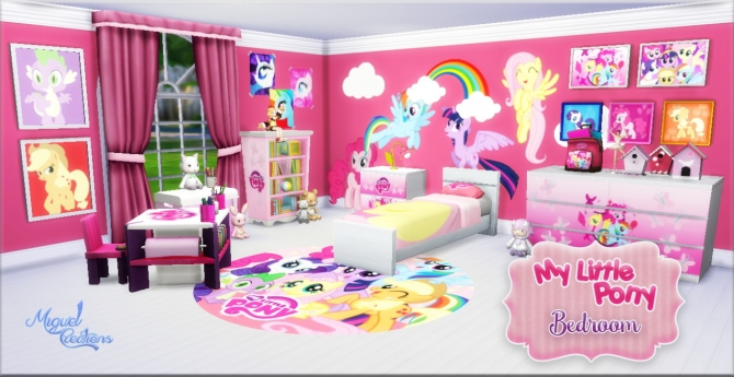 My Little Pony Bedroom At Victor Miguel 187 Sims 4 Updates