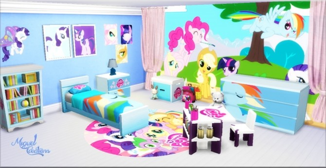 Sims 4 My Little Pony bedroom at Victor Miguel