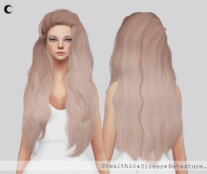 Sims 4 Sirens hair retexture at Kalewa a