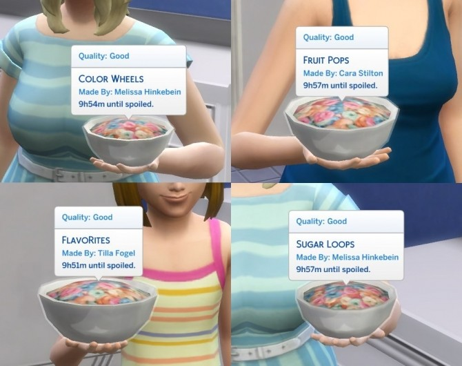Sims 4 Cereal Name Overrides by plasticbox at Mod The Sims