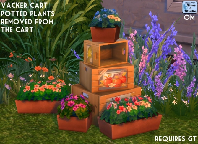 2 Planters From The Gt Vacker Sot Cart At Sims 4 Studio