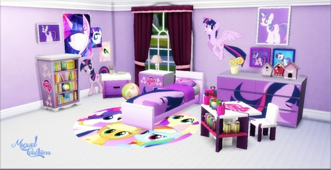 My Little Pony bedroom at Victor Miguel. My Little Pony bedroom at Victor Miguel   Sims 4 Updates