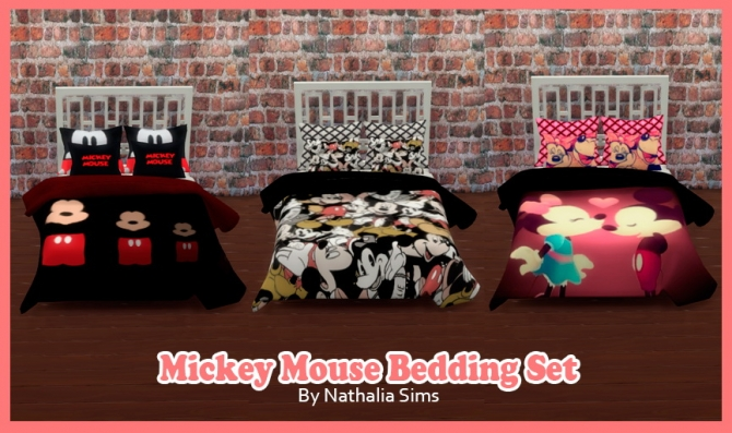 Mickey Bedding Set At Nathalia Sims 187 Sims 4 Updates
