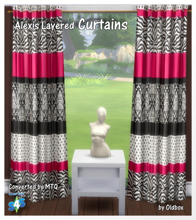 Sims 4 Shinokcr S4 Elegant Bathroom Hutch: Sims 4 Cc Curtains Curtains By Oldbox At All 4 Sims 187