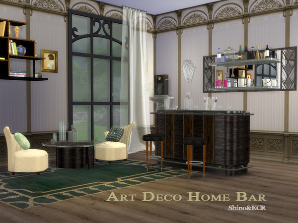Art Deco Home Bar by ShinoKCR at TSR image 977 Sims 4 Updates