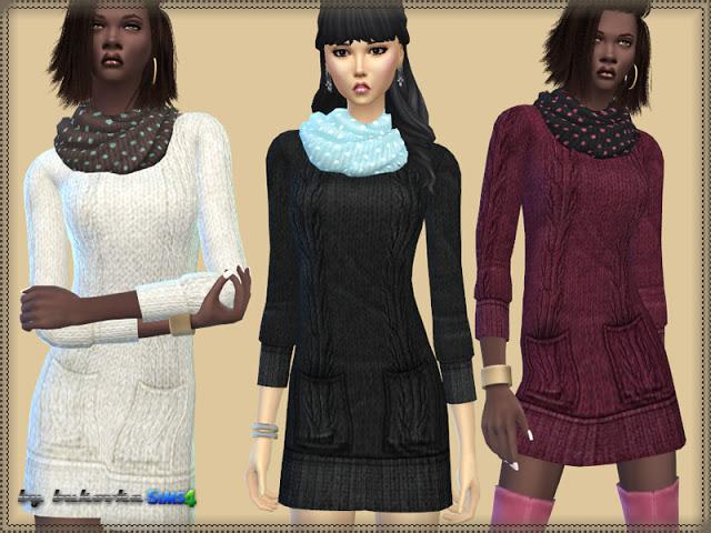 Sims 4 Dress Circular Scarf at Bukovka