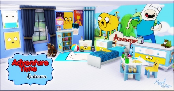 Bedroom Adventure Time at Victor Miguel image 987 670x352 Sims 4 Updates