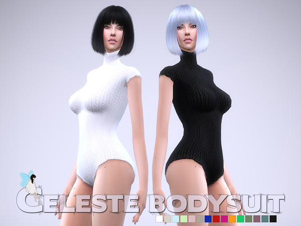 Sims 4 Celeste Bodysuit by Ms Blue at TSR