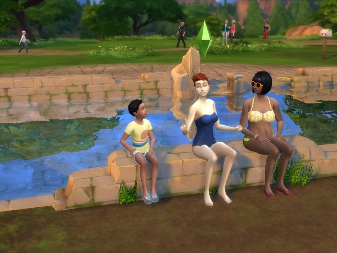 Sims 4 Ruin invisible benches and chair by artrui at Mod The Sims