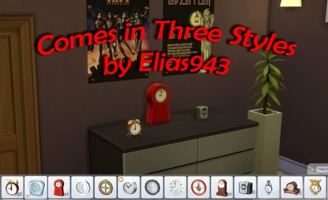 Sims 4 Working Alarm Clocks by scumbumbo at Mod The Sims