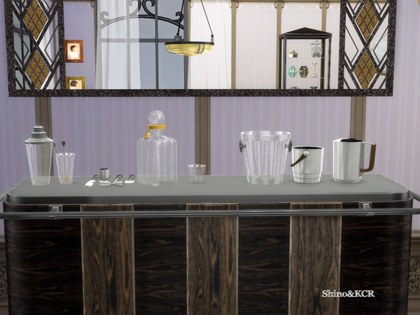 Art Deco Home Bar by ShinoKCR at TSR image 998 Sims 4 Updates