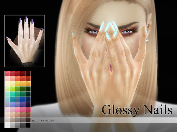 Glossy Nails N01 By Pralinesims At Tsr 187 Sims 4 Updates