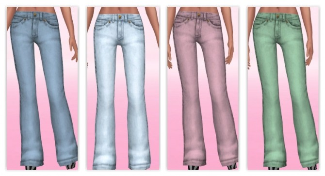 Wider Bootcut Jeans by Annabellee25 at SimsWorkshop image 10019 670x363 Sims 4 Updates