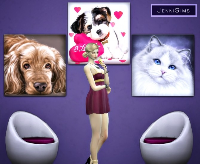 Paintings Gift Of Love (17 designs) at Jenni Sims image 10021 670x551 Sims 4 Updates
