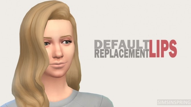 Sims 4 DReplacement Lips by simsinspring at Mod The Sims