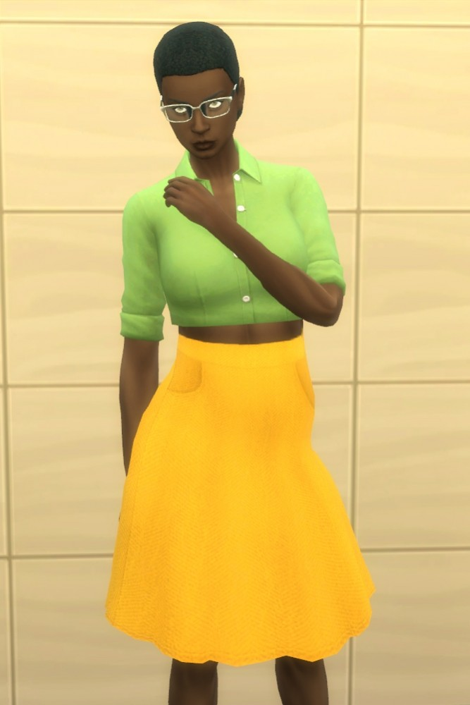 Herringbone Skirt with Pockets by pandaseal at Mod The Sims image 1005 667x1000 Sims 4 Updates