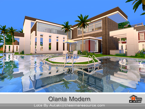 Sims 4 Olanta Modern house by Autaki at TSR