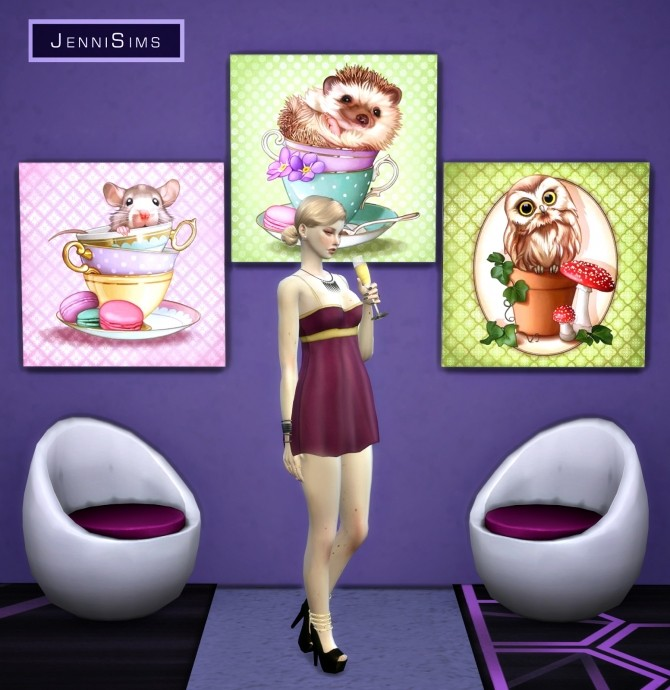 Paintings Gift Of Love (17 designs) at Jenni Sims image 10123 670x690 Sims 4 Updates