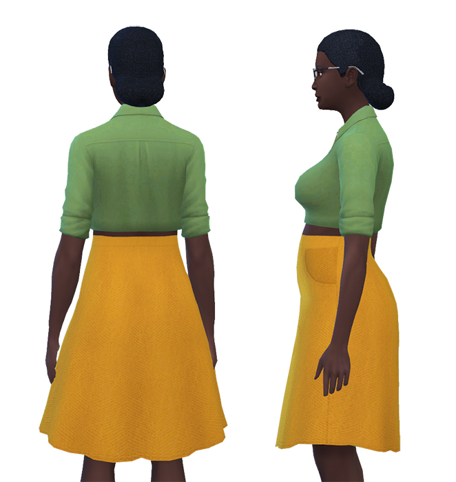 Herringbone Skirt with Pockets by pandaseal at Mod The Sims image 1019 Sims 4 Updates