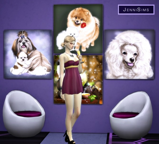 Paintings Gift Of Love (17 designs) at Jenni Sims image 10221 670x610 Sims 4 Updates