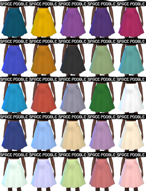 Herringbone Skirt with Pockets by pandaseal at Mod The Sims image 1024 Sims 4 Updates