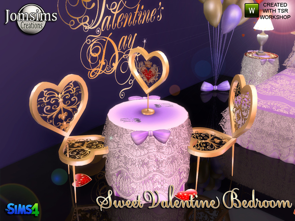 Sweet Valentine Bedroom by jomsims at TSR image 1026 Sims 4 Updates